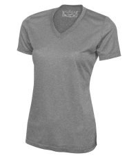 ATC PRO TEAM HEATHER ProFORMANCE V-NECK LADIES' TEE. L3517